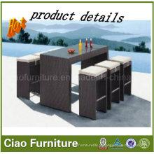 Напольная мебель ротанга/фитиль барные стулья и стол
