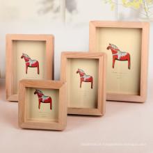FQ marca tamanho diferente papel bebê madeira moldura de foto de madeira