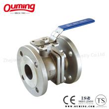 Valve à bille en acier inoxydable 2PC avec poignée de verrouillage Ss316 / Ss304 (Q41F-16R)