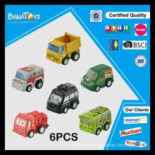 Plástico, pequeno, criança, caricatura, polícia, fl, puxar, costas, brinquedo, car