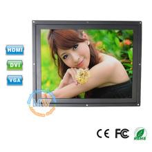 Montaje enrasado del marco abierto de OEM / ODM monitor LCD 12V de 12 pulgadas HDMI para el monitor del quiosco