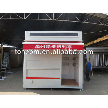 BKH-51 modern street kiosk convenient for selling magazine and newsstand