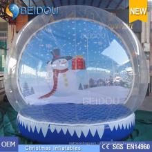 Прочные рождественские декоративные гигантские надувные человеческие снежные шары для продажи