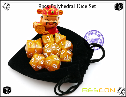 9pcs Polyhedral Dice Set-6