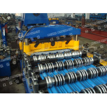 Color automatic Glazed tile steel roll forming machine/roofing process line