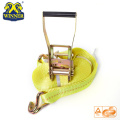 Polyester Truck Load Belt Webbing Ratchet Tie Down Strap