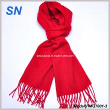 Écharpe à rayures en laine rouge écarlate