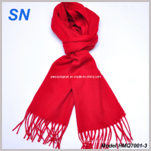 Scarlet Red Lã Fringe Scarf