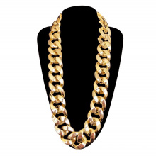 Men's Chunky Necklace, Rapper  Gold Chain 90s Hip Hop Gold Necklace Costume Accessory