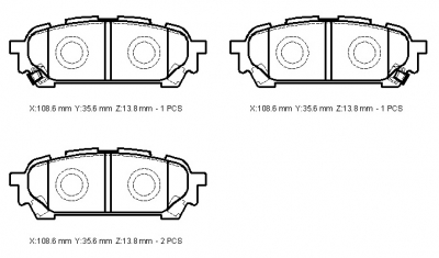 subaru Forester 01 brake pads