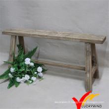 Tabouret chinois en bois vieilli à la main