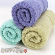 Usage domestique coloré jacquard satin coton doux ensemble de serviette de bain