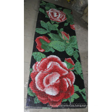 Patrón de flores de mosaico de vidrio de azulejos de pared (hmp802)