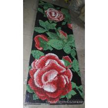 Цветочный узор Стеклянная мозаика настенная плитка (HMP802)