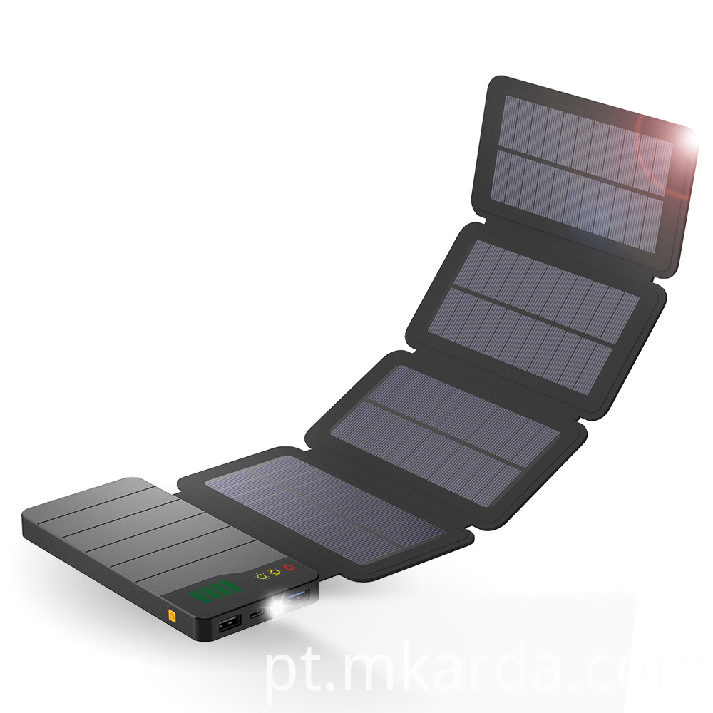 Optional Charging Connection Solar power bank 10000mAh