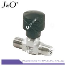 Conexiones de rosca de acero inoxidable Válvula de aguja operada por aire