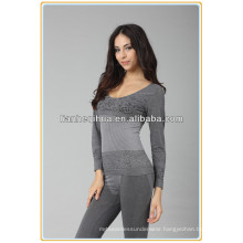 sexy seamless women shaping long johns,knitting inner thermal long johns