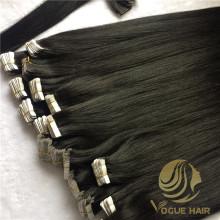 Fita invisível preta em extensões de cabelo