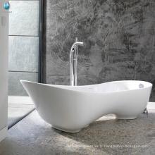 Sanitaires en pierre artificielle trempage hydrothérapie maison spa à talons hauts chaussure baignoire