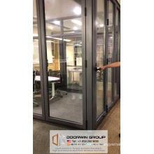 Vancouver puerta de la ventana de aluminio hardware puerta de vidrio plegable puertas rasantes puertas interiores retráctiles