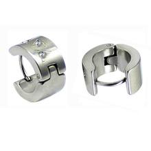316L Steel CZ Stone Hoop Huggies Boucles d'oreilles pour hommes HE-020