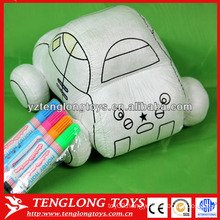 intelligent DIY toys painting fabric car toys