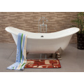 Big Size Double Slipper Enamel Cast Iron Bathtub
