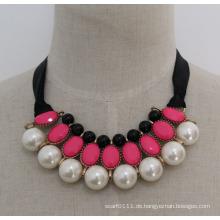 Lady hochwertige Mode Perle Kostüm Schmuck Halskette (JE0179)