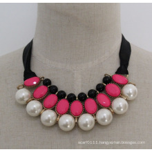 Lady High Quality Fashion Pearl Costume Jewelry Necklace (JE0179)