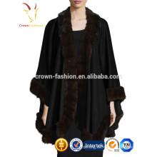 Abrigo de estola de cachemira de piel de zorro de Mongolia Interior