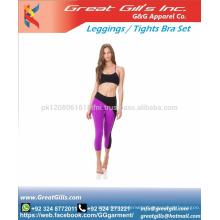 Fitness workout clothing girls slim leggings+tops women yoga sets bra+pants