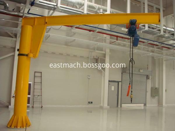 Fixed Muonted Column Chain Hoist Lifting Pillar Jib Crane