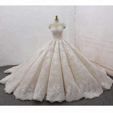 Vestido de boda de lujo del vestido de bola de las mujeres de Alibaba de alta calidad 2017 WT271