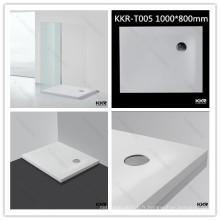 Receveur de douche en pierre artificielle / sanitaire receveur de douche rectangulaire