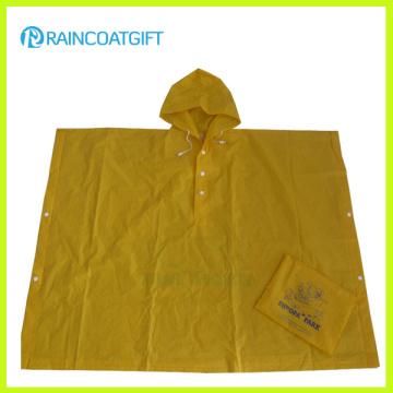 Promotional Folding Pocket Plastic Rain Poncho (Rvc-105)