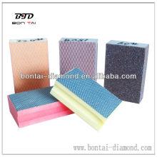 Tipo de bloque de esponja Diamond Hand Polishing Pad