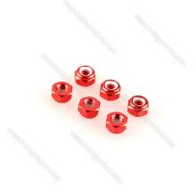 Juego de llaves de tuerca de bloqueo de aluminio personalizado rojo negro