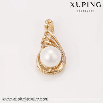 33058 Artificial sea pearl gold designed fashion women pendant cheap wholesale jewelry