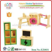 Muebles de casa de muñeca en miniatura