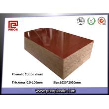 Hoja laminada de papel fenólico en stock