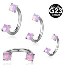 Moda g23 titanium ferraduras internas com prong definir opala titanium jóia do corpo