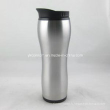 Tasse à café thermique avec couvercle en plastique 16oz