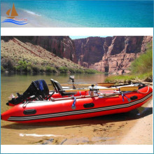 2016 New Red Inflatable Motor Boat