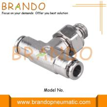 Male Thread Branch Tee Brass Pneumatic Hose Fitting