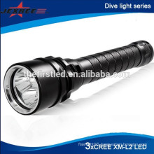 Diving up to 100 meters 3x CREE XML T6 Waterproof Diving powerful led Flashlight