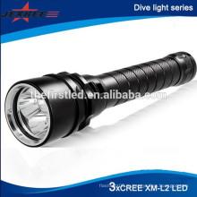 Дайвинг до 100 метров 3x CREE XML T6 Водонепроницаемый Дайвинг мощный светодиодный фонарик