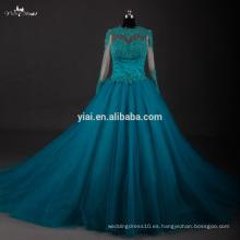 RSE606 personalizar su propio largo pavo real vestidos de quinceañera con mangas patrones