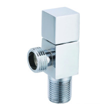 J7020 zinc alloy square handle brass angle valve