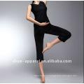 2013 сплошной черный цвет Dance одежда йога одежда Фуцзянь