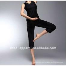 2013 desgaste de dança de cor sólida preto desgaste de ioga fujian